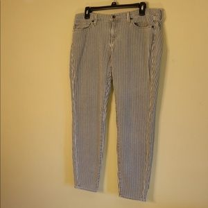 Lucky Brand Jeans - Lucky Brand Blue & White Striped Jeans